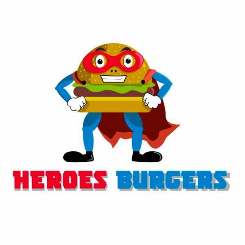 Heroes Burgers Logo